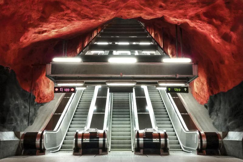Mero, Stockholm, Blue line, Sztokholm, Rådhuset, Ratusz , Stacja